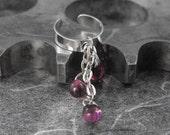 Amethyst Purple Silver Ear Cuff - Tears of Purple Rain by COGnitive Creations
