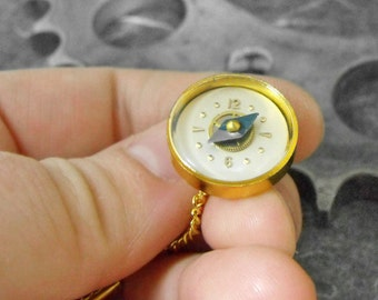 Golden Compass Tie Tack Pin - Exploring Time by COGnitive Creations