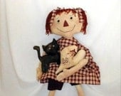 Primitive E- Pattern  Raggedy Annie Rhonda  Doll Decoration