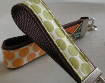 READY TO SHIP-Beautiful Key Fob/Keychain/Wristlet-Full Moon in Lime