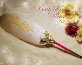 BUTTERFLY DREAMS 2014 Love Letters Series Swan Feather Quill Pen ... Valentines Day