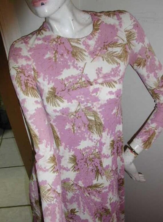 Clearance:  Italian Made DIANE VON FURSTENBERG Muted Floral Vintage Maxi Dress