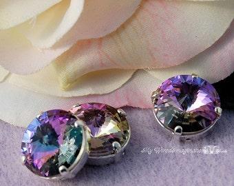 12mm Sew On Swarovski Crystal Vitrail Light Rivoli 1122 With Prong Setting Craft Supplies Jewelry Making