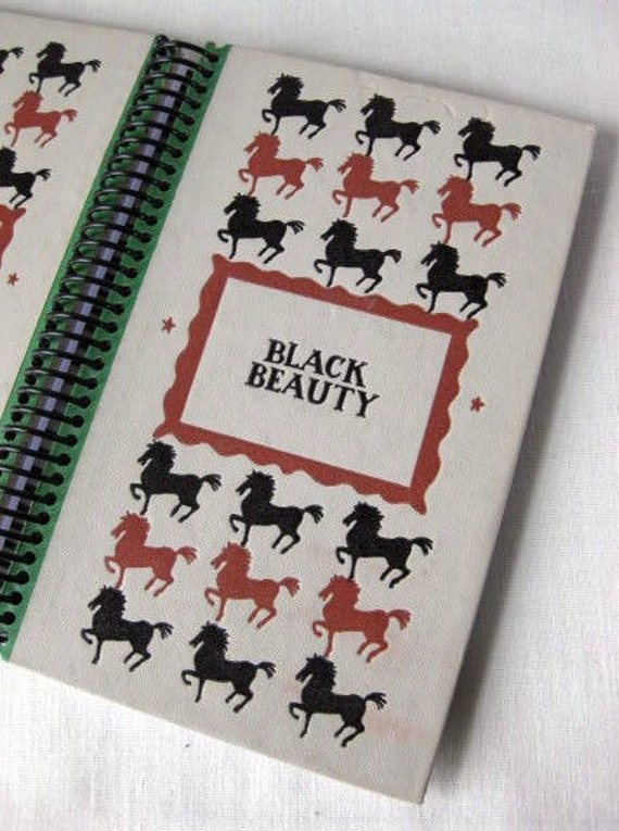 Black Beauty, Recycled Book Journal, Notebook, or Sketchbook