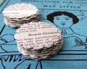 Vintage Cookbook Paper Stickers, Set of 20 Packaging Sticker Seals, Canning Jar Label Stickers, Wedding Favor Stickers