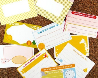 INSTANT DOWNLOAD Back to School Lunchbox Love Notes - Printable PDF with 8 Cute Blank Card Designs