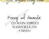 SPRING COLLECTION 2011 Thank you Wedding Gift Spring Modern Return Address Custom Rubber Stamp 0147 (self inking)