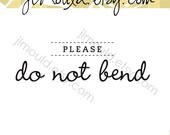 Professional Photographer Stamp Please Do Not Bend Photo Photos DYI Wedding Small Business 0026 (self inking)