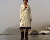 ORGANIC Drawstring Wrap Short Dress ( organic cotton knit ) organic dress