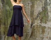 ORGANIC Love Me 2 Times Vinyassa Long Dress - ( locally milled organic tissue cotton ) - organic cotton dress