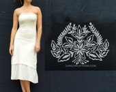 ORGANIC Love Me 2 Times Vinyassa Below Knee Dress (locally milled organic tissue cotton)