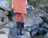 ORGANIC Simplicity Short Skirted Legging (hemp and organic cotton fleece) organic leggigns