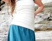 Organic Women's Ribbed for Her Pleasure Tube Top With Inner Boob Tube ( light hemp lycra )
