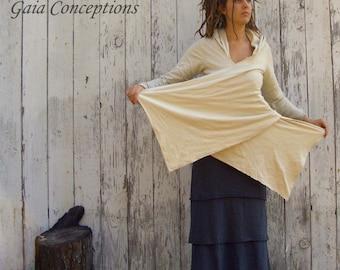 ORGANIC Oh SnAp Wrap Cropped Jacket - ( light hemp and organic cotton ) Organic Hemp Jacket