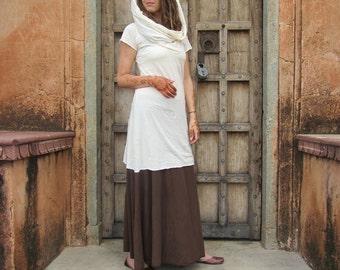 ORGANIC Super Cowl Simplicity Short Dress - ( organic tissue cotton ) - organic cotton dress