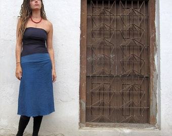 Organic Simplicity Below Knee Fleece Skirt ( hemp and organic cotton knit fleece ) organic skirt