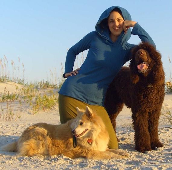 ORGANIC Beach Bum Hoodie Shirt ( light hemp and organic cotton knit blend ) - organic hemp shirt