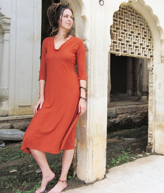 Hampi Below Knee Dress (organic tissue cotton)
