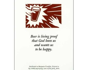 Beer is Proof letterpress print