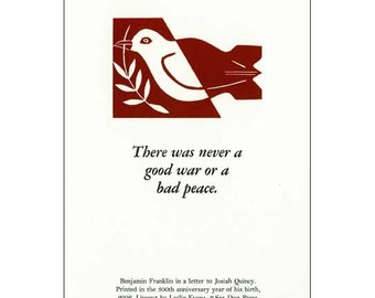 Good War letterpress print