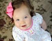 5 Baby Girls Hair Bows U PICK Over 30 Color Newborn Hair Clips Bow/ Everyday Bows/ Hair Barrettes pair w. Cotton Beanie Crochet Hat Headband