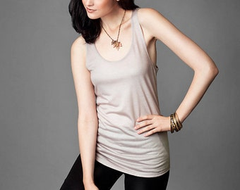 SALE Tencel Scoop Neck Tank Top // Nude