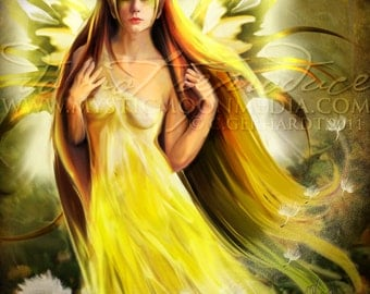 Sovereign Of Summer... Summer Queen Fairy...Print... Fantasy Picture...Fairy art