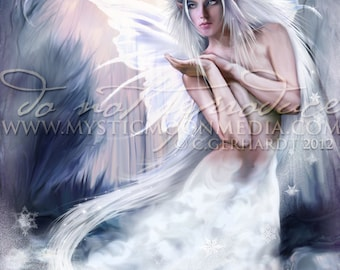 Sovereign Of Winter- fairy pictures -Winter Queen Fairy... Print... Fantasy Picture...Fairy art - Fairy Pic
