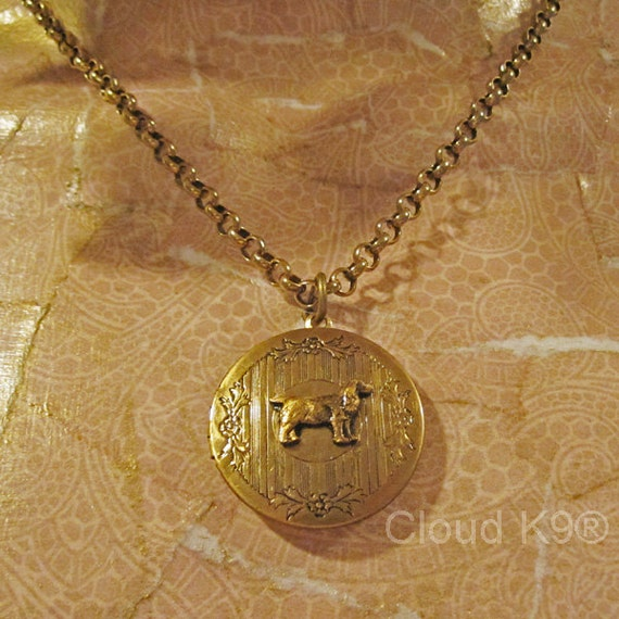 COCKER SPANIEL LOCKET Necklace by Cloud k9 ... Vintage Style Jewelry for Dog Lovers (English Cocker Spaniel Jewelry)