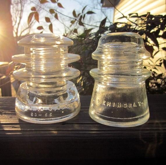 Vintage Glass Insulators - Industrial