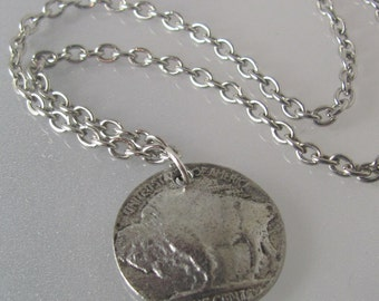 Release the Buffalo (A silver rustic western necklace)