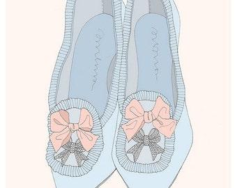 Marie Antoinette's Heels Fashion Illustration Small Art Print Set