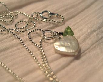 August Sweetheart Pendant - Peridot