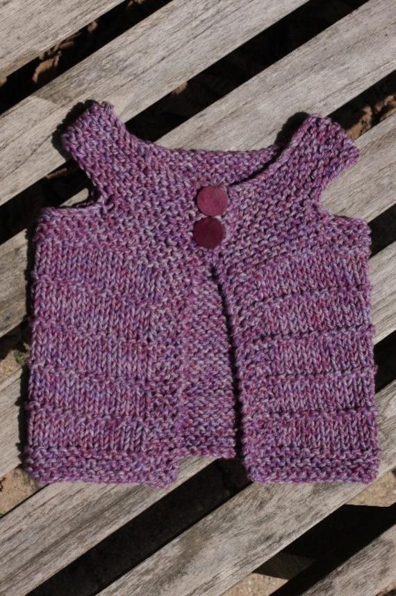 Sleeveless Cardigan Knitting Pattern : PDF knitting pattern vest sleeveless cardigan Alise