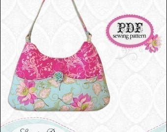 Pocket Purse PDF Handbag Sewing Pattern / Sweet Pea Totes