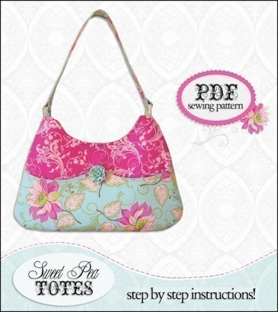 Easy Handbag Pattern : Pocket Purse PDF Handbag Sewing Pattern / Sweet by SweetPeaTotes