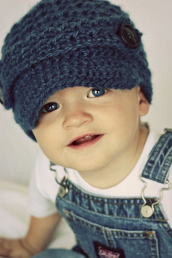 Toddler Boy Newsboy Beanie Crochet