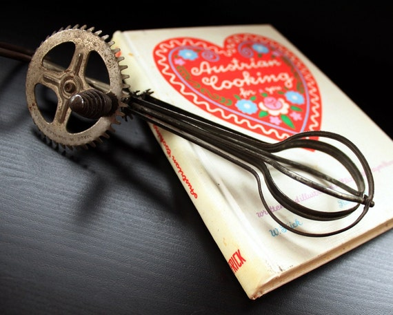 Vintage Cooking Gift Set - European - Austrian Cookbook and English Handmixer - SALE