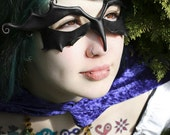 Wicked Leather Bird Mask - Blackbird, Raven or Crow Costume In Black