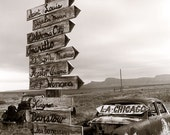 Which Way Today  - Limited Edition Route 66 Black and White  Photograph