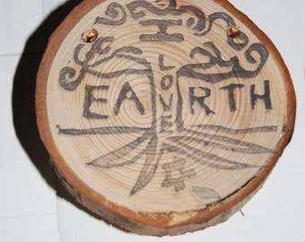 I LOVE Earth rubber stamp- made to order