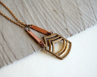 Chevron Necklace - FREE US Shipping