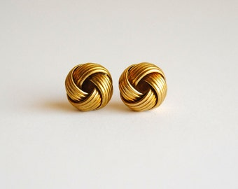 SALE - Nautical Knot Earrings. Brass Earrings. Gifts Under 20. Upcycled Jewelry. Gifts for Girlfriends. FREE Shipping in US