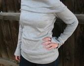 Cowl Neck Women's Shirt.Long sleeve shirt.Women's clothing.Shawl Top