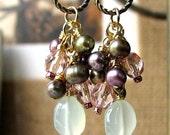 AUDRA Regency Romance Mint Chalcedony Gemstone Hollywood Glam Earrings