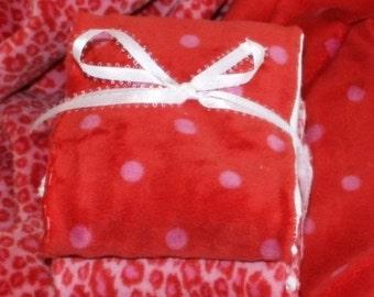 Burp cloths, lavish pinkaliscious minky and absorbent cotton