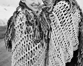 Custom Couples Blanket for Two, Fringe Throw, Lap Warmer Afghan (Wedding Gift for Couples Gift) Custom Colors