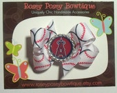 RPB MLB Los Angeles Angels of Anaheim Inspired Baseball Hair Bow or YOUR Favorite team