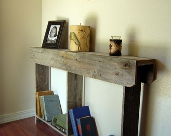 Thin Console Table Recycled Furniture Wood 4 foot long Wall Runner Farm House Furniture Small Apartment Tables By Trueconnection