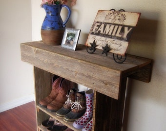 Sofa Table Wood Console Table Reclaimed Wall Table Entry